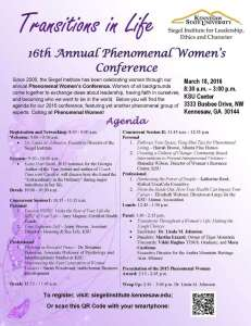 16th Annual Phenomenal Women's Conference Agenda